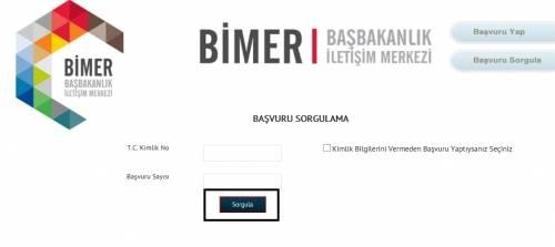 bimer başvuru sonucu sorgulaması e-sorgulama.com